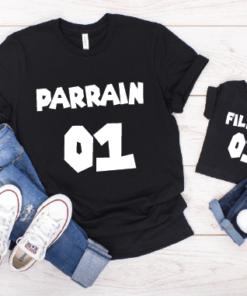 duo de t-shirt parrain et filleul