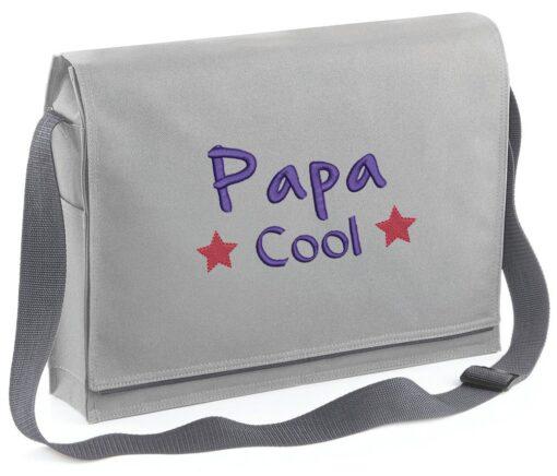 Besace grise personnalisée pour la fête des pères