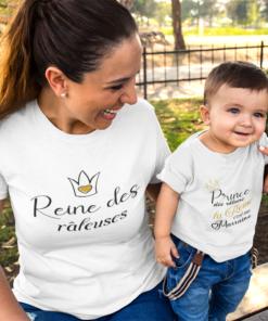 t-shirt duo marraine et filleule râleur