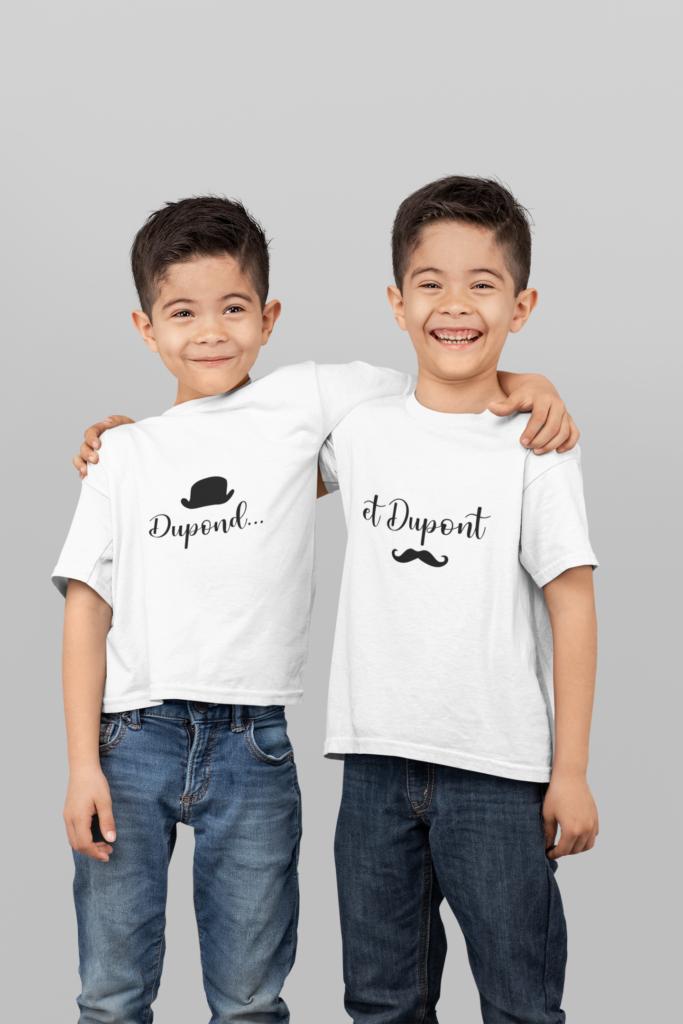 t-shirts jumeaux humoristique