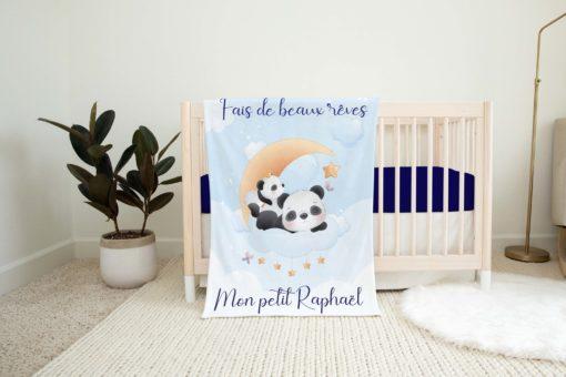 couverture personnalisée panda